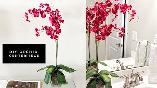 How To Easily Make A Faux Orchid Centerpiece | Home Decor Ideas | Save Money Making Your Own
