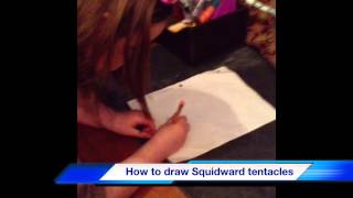 How To draw Squidward Tentacles On Sponge bob Square Pants