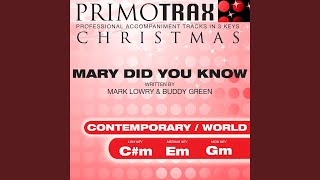 Mary Did You Know? - Performance Backing Track