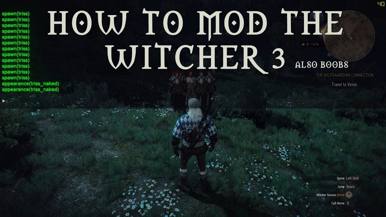 how to mod the witcher 3 sweetfx debug console extreme weather and more youtube. Black Bedroom Furniture Sets. Home Design Ideas