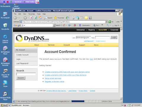 Hướng dẫn cài - xem mạng - tên miền (trên DynDNS)
