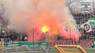 BSG Chemie Leipzig 0:4 Chemnitzer FC 17.11.2013 | Choreos, Pyro & Support