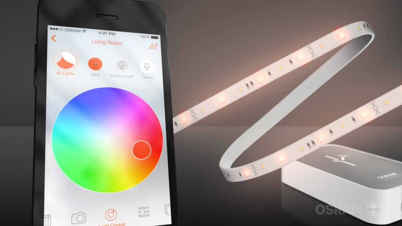 lightify led strip rgbw from osram youtube. Black Bedroom Furniture Sets. Home Design Ideas