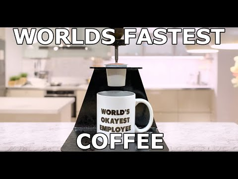 Fastest Cup of Coffee - 60,000 PSI Waterjet Coffee