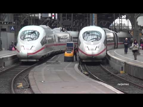 (HD) German Passenger Trains:  22 in 14 minutes in Cologne Germany