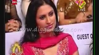 simha Telugu play back singer and Malavika Performing in Santosham Awards 2009