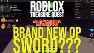 WHERE TO FIND THE NEW OP SWORD IN TREASURE QUEST II Roblox Treasure Quest