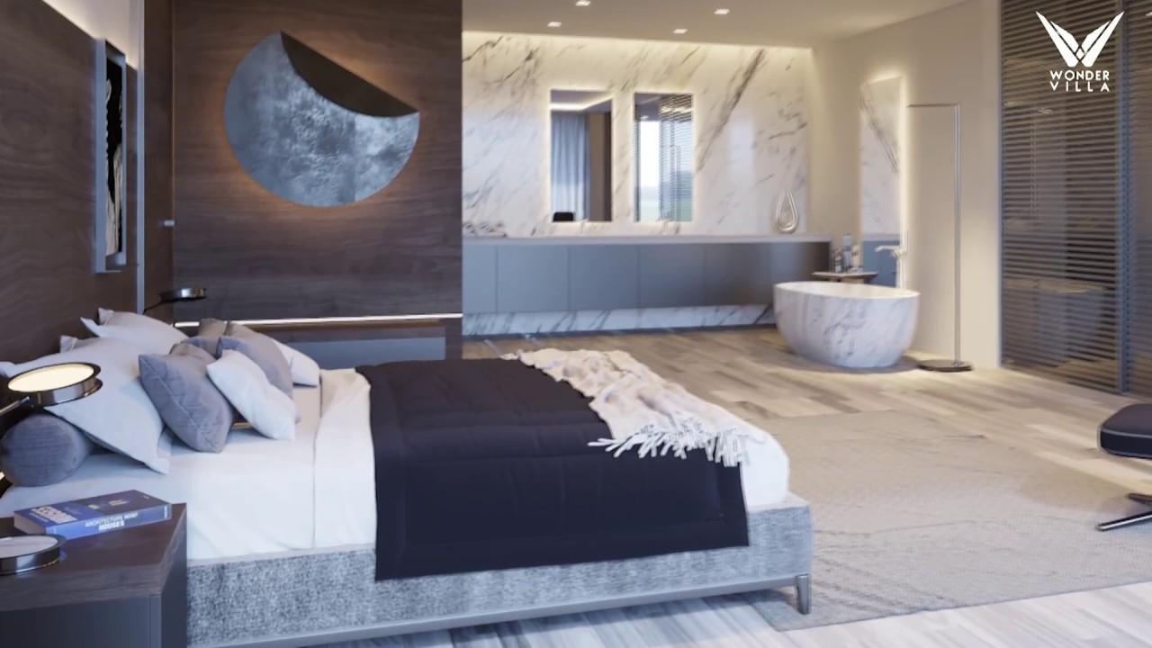 Camera Da Letto In Prospettiva Centrale wondervilla - il bagno open space in camera da letto