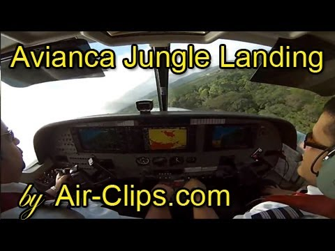 Avianca (Sansa) Cessna 208B Grand Caravan: Crazy jungle landing [AirClips full flight series]