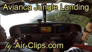 Avianca (Sansa) Cessna 208B Grand Caravan: Crazy jungle landing [AirClips full flight series]