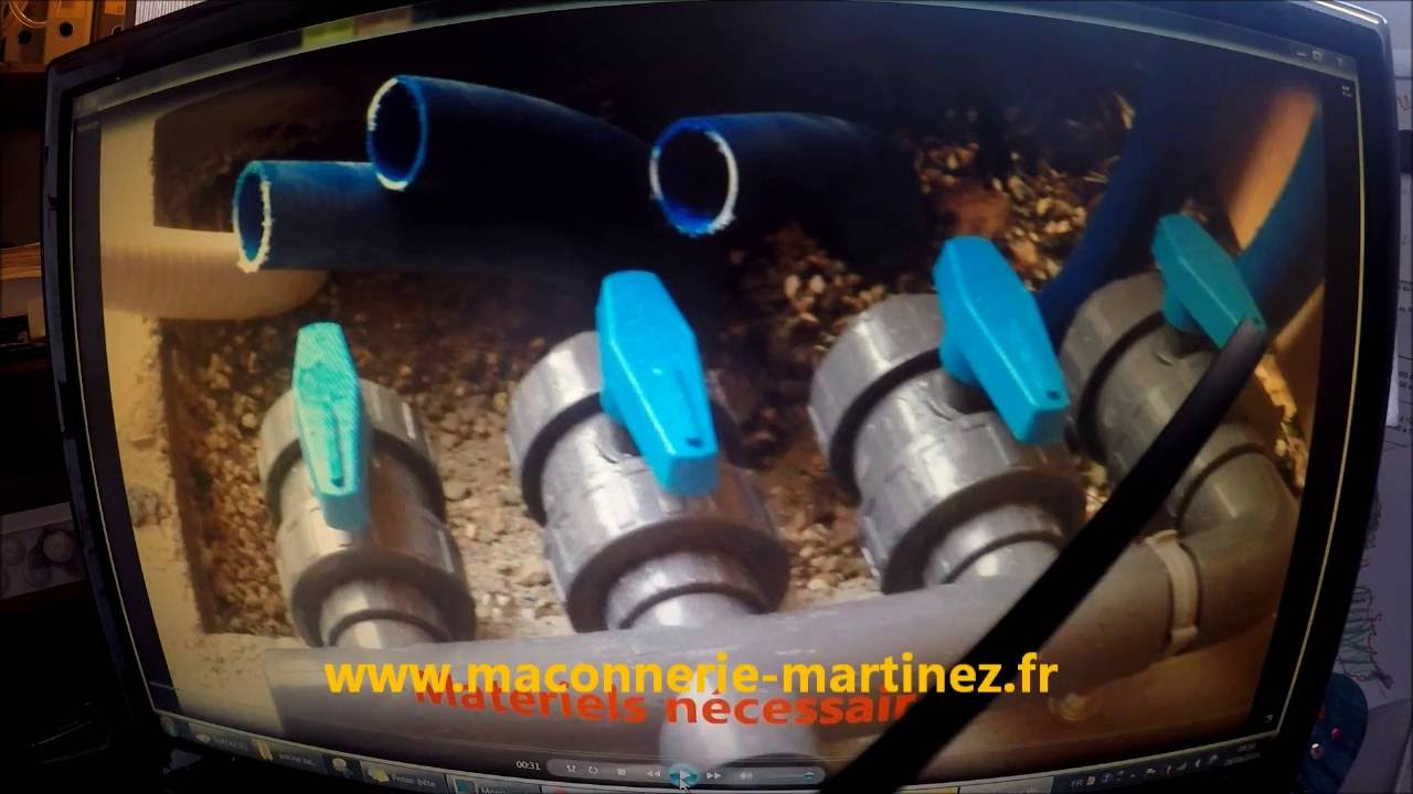 Montage filtration piscine pr paration collage marinez for Piscine bagnols sur ceze