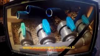 Montage filtration piscine, préparation, collage Marinez piscine bagnols sur ceze
