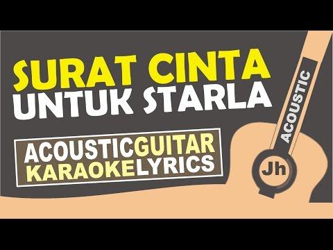 Virgoun - Surat Cinta Untuk Starla ( Karaoke Acoustic )