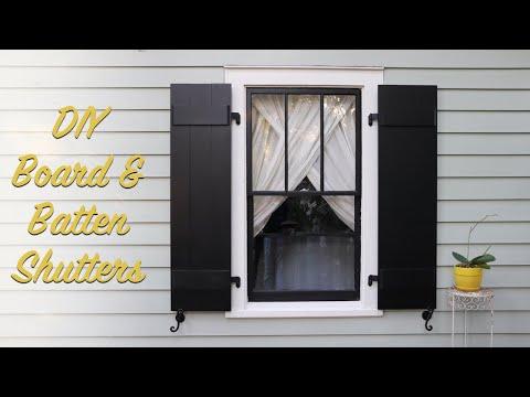 DIY Board & Batten Shutters