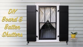 DIY Board & Batten Shutters