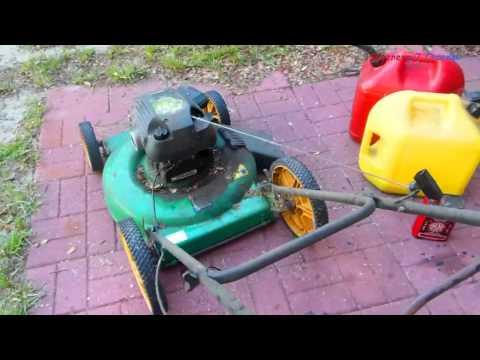 Diesel in Gas OLD Lawnmower Experiment
