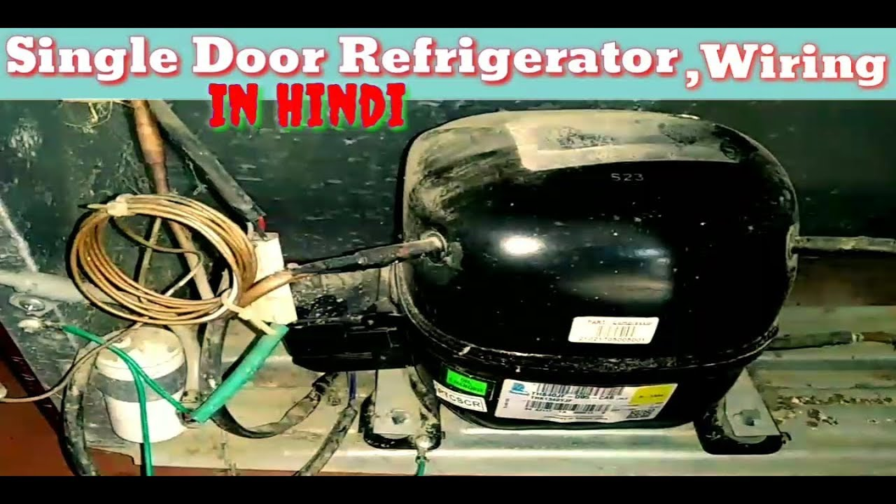 Single Door Refrigerator Wiring Diagram Compressor Wiring