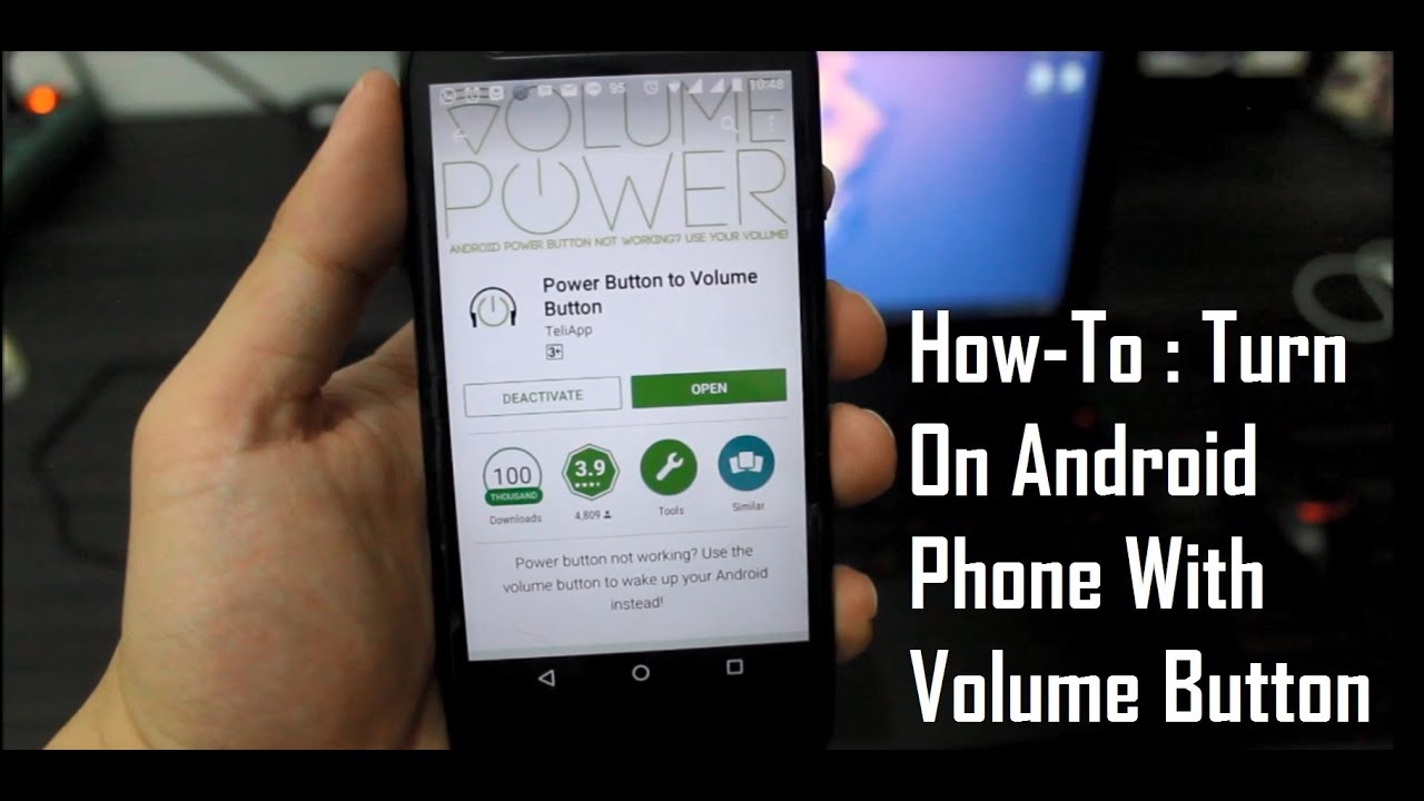 How-To : Turn On Android Phone With Volume Button