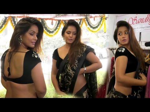 Neetu Chandra In Black Saree At Designer Sandhya Singh's Store Launch thumbnail
