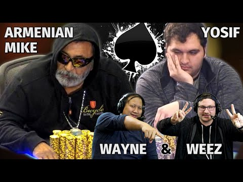 Armenian Mike Goes For Massive Bluff ♠ Live at the Bike!