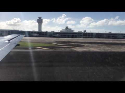 Take-off from SJU San Juan Airport Puerto Rico