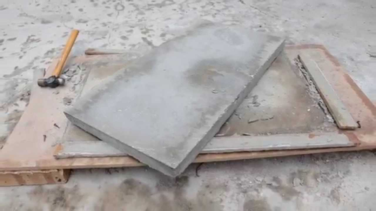 DIY Project   Concrete Table Top   YouTube