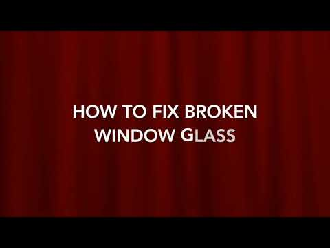How to fix broken glass from metal window frame INDIA   Refix new galss on window frame