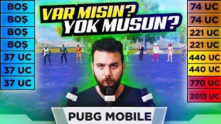 KUTUNDA KAÇ UC VAR? PUBG Mobile UC Ödüllü Yarışma (Komik Anlar)