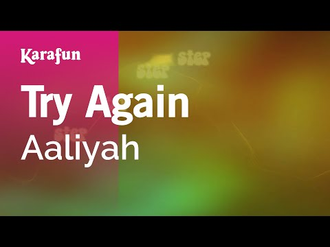 Karaoke Try Again - Aaliyah *