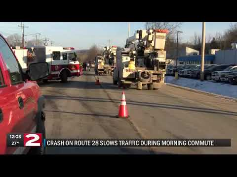 Route 28 crash delayed morning commute in Herkimer