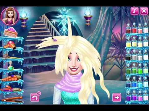 juego elsa frozen real haircut - youtube