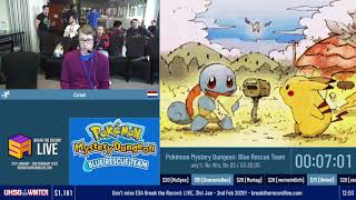 Pokémon Mystery Dungeon: Blue Rescue Team (Any% no WM, No QS) by Crrool - #UKSGWinter20