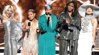 Lady Gaga, Michelle Obama, Jennifer Lopez and Jada Pinkett Smith on Their Empowering GRAMMY Moment