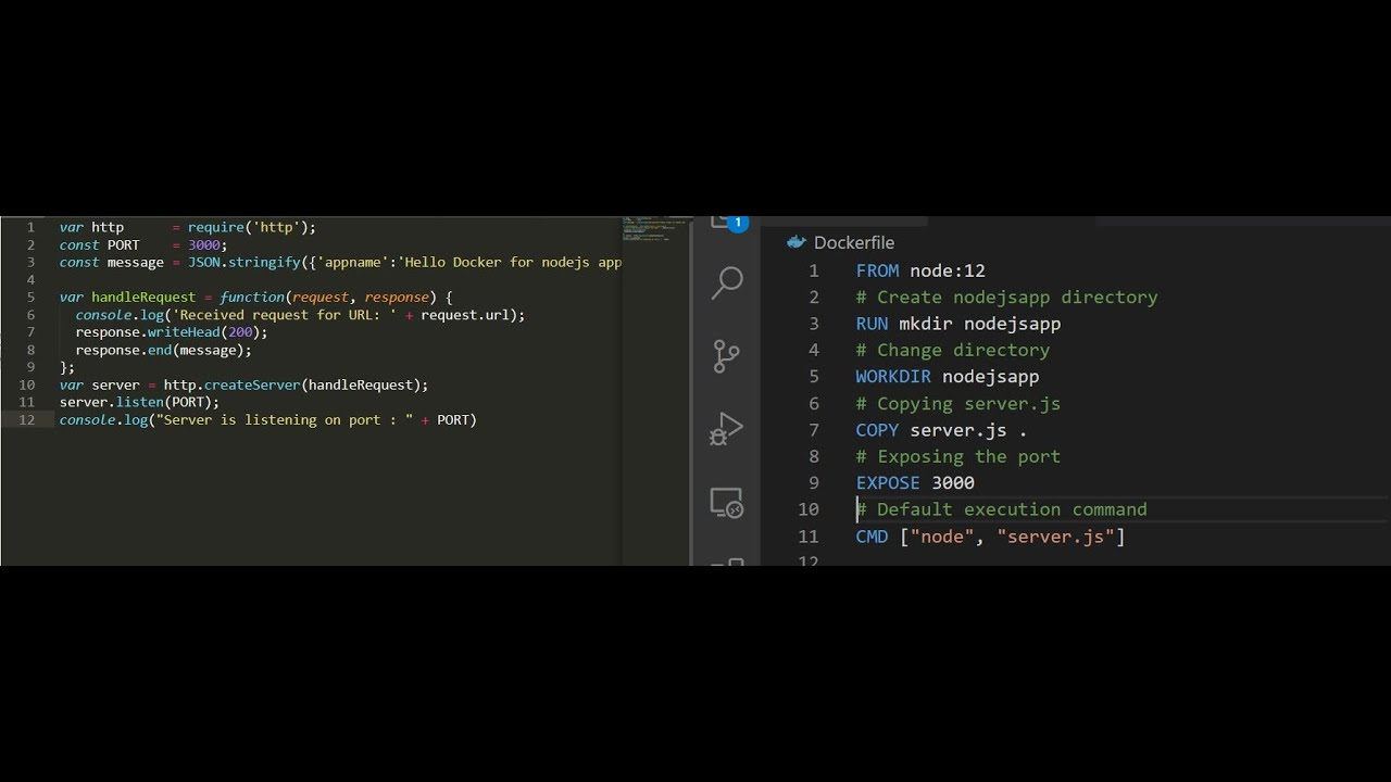 Docker   How to containerized NodeJs Application Part20