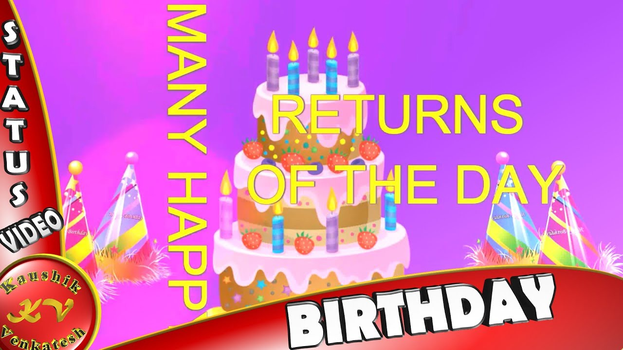 Birthday Wishes Animation VideoWhatsapp StatusQuotesImagesMessageHappy Greetings