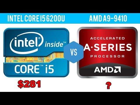 Intel Core i5 6200U vs AMD A9 9410
