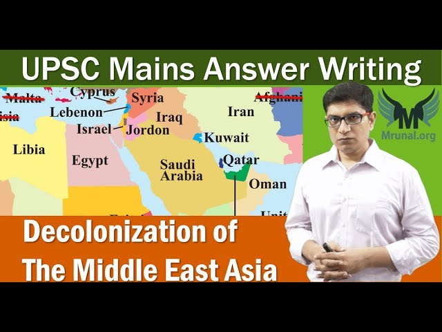 World-History: Decolonization of Middle-East: UPSC Mains Answer Writing (GSM1)