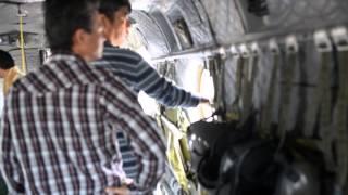 CH-47JAチヌーク(キャリバーCH)の機内を見学しました.