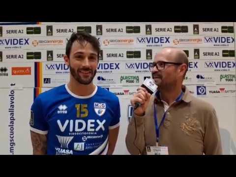 """Manuele Marchiani """"il marchio"""" commenta la partita contro Tinet Gori Wines Prata."""