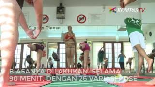 Yoga Sambil Panas-panasan