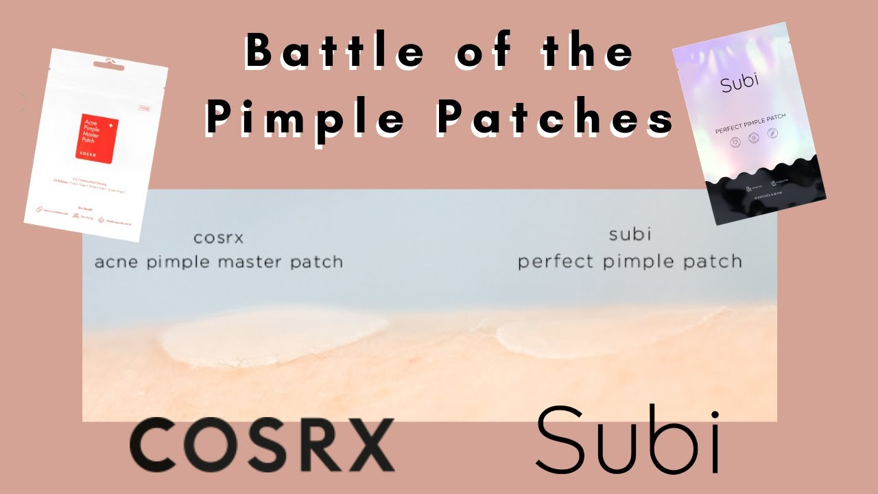 BATTLE OF THE PIMPLE PATCHES! COSRX Acne Master Patch v Subi Perfect Pimple Patch