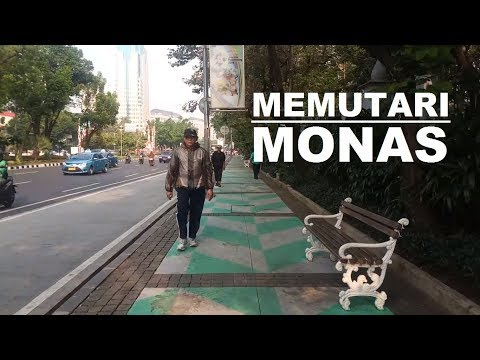 Walking Around ~ Berjalan memutari Monas Monumen Nasional sa