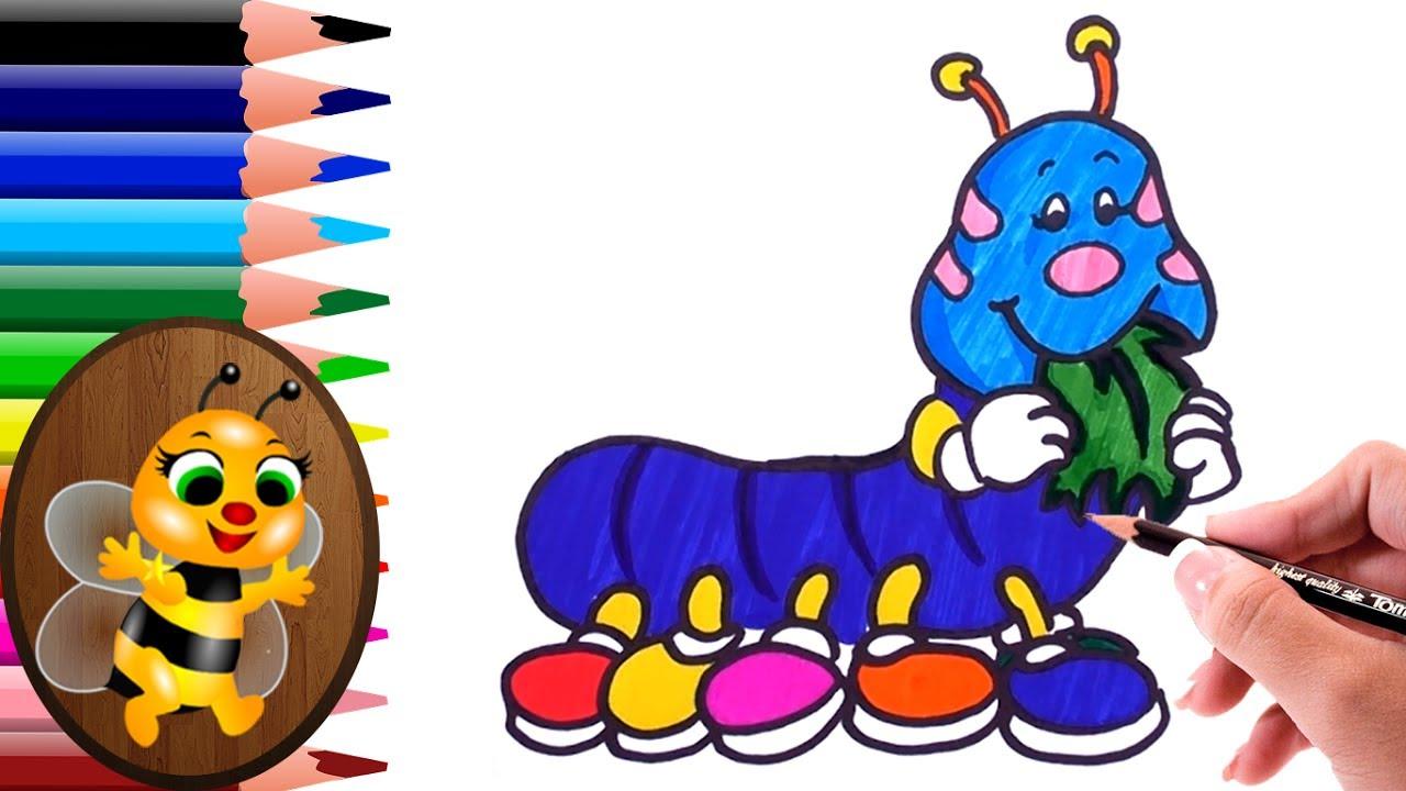 imagenes de un gusano animado para colorear