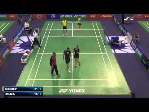 1st Round - 2014 French Open - Xu Chen-Ma Jin vs Joachim F Nielsen-Marie Roepke