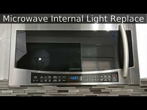 Samsung Microwave Inside Light Bulb Replace Fix Mc17j You