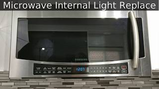 samsung microwave inside light bulb replace fix mc17j