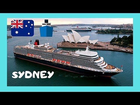 LOOK AT SYDNEY'S HARBOUR and the luxurious QUEEN MARY 2 cruise ship (Australia)