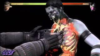 MK9 Freddy Krueger 65% Damage X-RAY Combo Mortal Kombat 2011 mk9 720p HD!