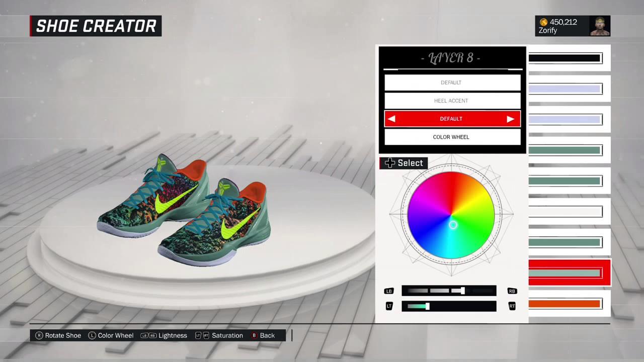 NBA 2K17 Shoe Creator - Nike Kobe 6