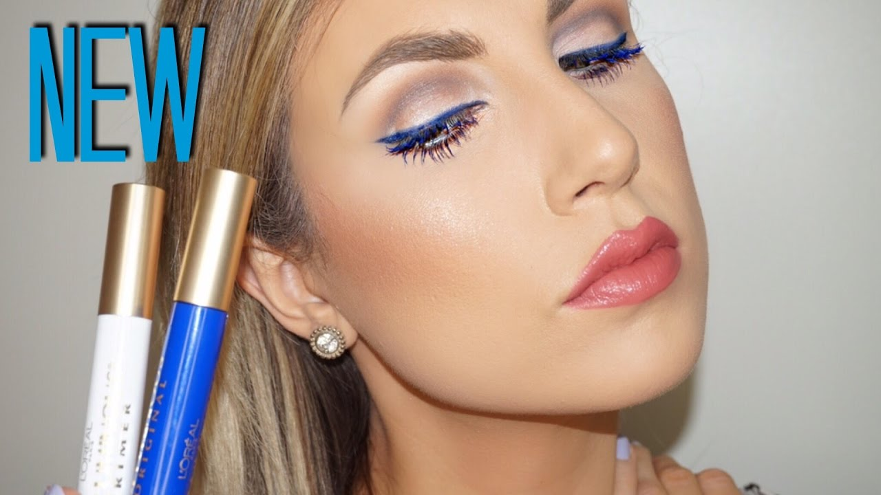 *NEW* L'Oreal Voluminous Original Mascara Cobalt Blue & Primer | Review & Demo